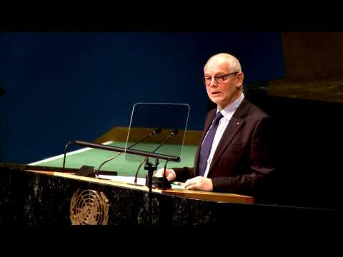 Le Ministre d'État prend la parole à l'ONU