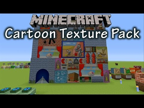 Taking a Look at the Brand New Minecraft Cartoon Texture Pack! (July 15th 2014)