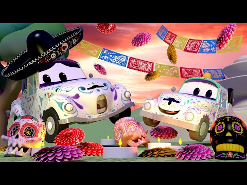 DIA DE LOS MUERTOS Henry Celebrates Dia de Los Muertos - Tom The Tow Truck in Car City for children