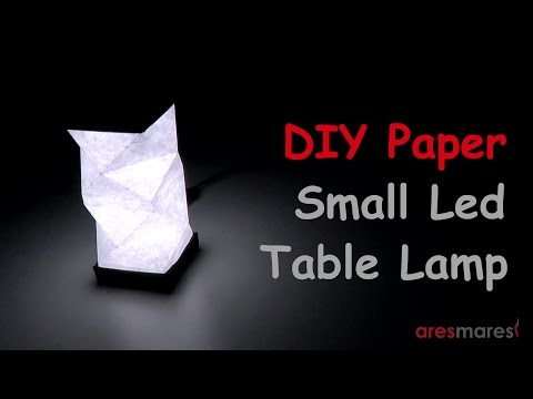 DIY Paper Table LED Lamp