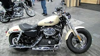 8. 2014 Harley-Davidson Sportster 1200 Custom (XL1200C) Walkaround - 2013 New York Motorcycle Show