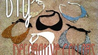 DIY: Decorative Collar Necklaces - YouTube
