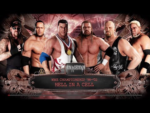 WWE 2K18 (PS4) Kurt Angle Vs HHH Vs The Rock Vs Stone Cold Vs Undertaker Vs Rikishi Armageddon 2000