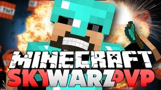 Minecraft Sky Warz PvP - STOP FALLING OFF!!