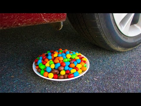 Crushing Crunchy & Soft Things by Car! - Most Satisfying Car Tire Crushing Video Ever