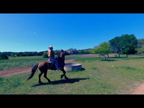 Horseback riding with real texas cowboys