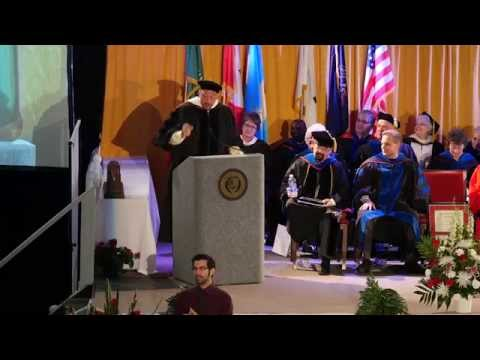 Charlie Batch presents commencement speech to La Roche College graduates in 2014