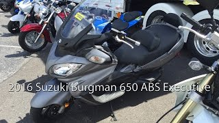 5. 2016 Suzuki Burgman 650 ABS Executive Scooter Review