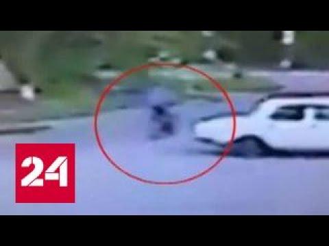 Велосипедист облил кислотой двух девушек в Буденновске (видео)