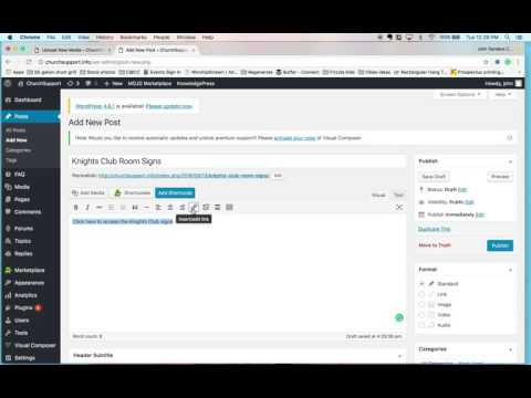 Add a New Post with a Linked File