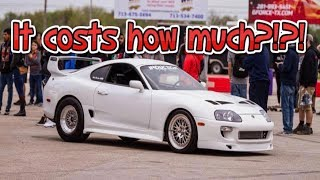 Supra Shirts : https://www.sik2jz.bigcartel.comThis video will break down the cost of building a 1000hp Supra Turbo. I will show you everything I have done to the Supra over the last 3 years and some tips I have if you plan on buying or building a Supra turbo. Please like and Subscribe another Supra driver is picked at 5000 subscribers.***Social MediaInstagram: https://www.instagram.com/sik2jz/Facebook: https://www.facebook.com/jmichetti1