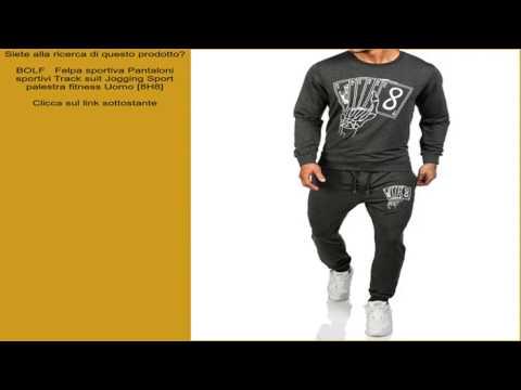 BOLF   Felpa sportiva Pantaloni sportivi Track suit Jogging Sport palestra fitness Uomo [8H