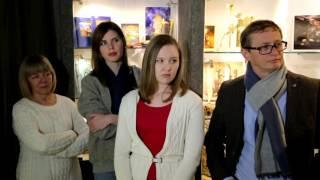 Видеорепортаж с открытия выставки Натальи Рябининой «Сделано руками, создано душой».