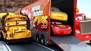 Video Lightning McQueen CHALLENGES Miss Fritter to a real Race - WINNER GETS BUNCH OF OIL Disney Cars 3 MP3, 3GP, MP4, WEBM, AVI, FLV Februari 2019