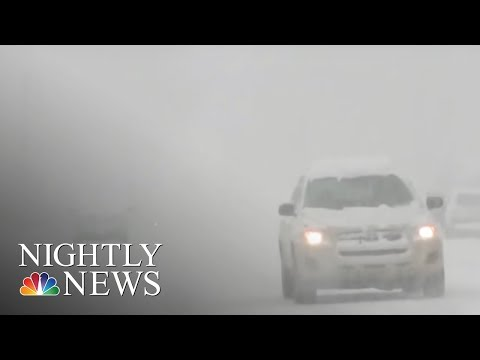 Travel troubles: snow cancels flights along the East Coast | NBC Nightly News