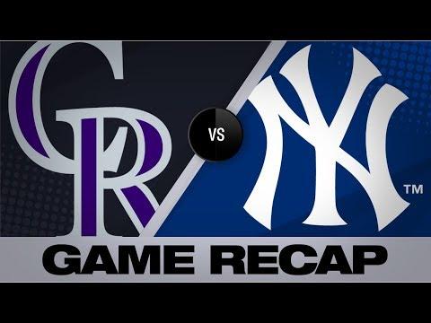 Video: Balanced offense propels Yanks past Rockies | Rockies-Yankees Game Highlights 7/20/19