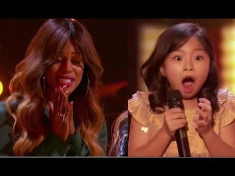 Celine Tam: Wonder-child Singer Gets Laverne Cox's GOLDEN BUZZER | America's Got Talent