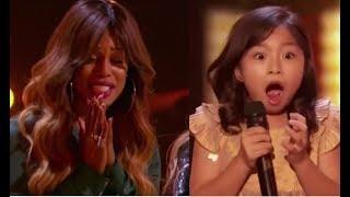 Video Celine Tam: Wonder-child Singer Gets Laverne Cox's GOLDEN BUZZER | America's Got Talent 2017 MP3, 3GP, MP4, WEBM, AVI, FLV Juni 2019