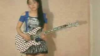 girls on play guitar female guitar Naruto OST fighting spiri