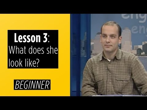 levels - English For You - Learning English is much easier now! Beginner Levels - Lesson 3: What does she look like? This Level is for students who have never learned...