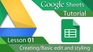 #5 [구글스프레드시트] Google Sheets - Tutorial 01 - Creating and Basic Formatting (영문)