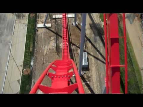 Intimidator - A high quality front seat POV of the new rollercoaster Intimidator at Carowinds theme park in Charlotte, South Carolina. This B&M hyper is 233 feet tall, boa...