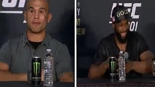 Happy Tyron Woodley vs Robbie Lawler Post Fight Press Conference highlight