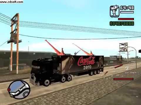 GTA San Andreas CokeZero Trailer Truck