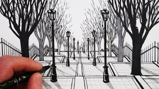 Learn How to Draw 1-Point Perspective in this narrated art tutorial, step by step.SUBSCRIBE: http://www.youtube.com/circlelineartschool.Watch Next: How to Draw Perspective Playlist: http://bit.ly/1QV3SsWThis 1-Point Perspective drawing is a drawing of the famous steps by Montmartre in Paris. For this perspective drawing I have made the steps wider so they are symmetrical.Here is the Wikipedia page on Montmartre and the famous steps of The Rue Foyatier:https://en.wikipedia.org/wiki/Montmartrehttps://en.wikipedia.org/wiki/Rue_FoyatierFor this drawing I use a mechanical 2B pencil, a black pen and a set of black and grey pens.I hope you LIKE, COMMENT & SUBSCRIBE: http://youtube.com/circlelineartschoolHow to Draw in 1-Point Perspective: Draw Steps in Perspective: Draw a View of Trees in Perspective: Step by StepCircle Line Art School: Episode 231Thank you for watching this 1-Point Perspective art tutorial from my channel, Circle Line Art School, please subscribe to my channel for a new art tutorial each week, there are now more than 230 of my drawings to watch! http://www.youtube.com/circlelineartschoolCircle Line Art SchoolHi, my name is Tom McPherson and I founded Circle Line Art School as an online art education resource for all. My aim is to inspire people to learn to draw and be more creative.Please leave a comment to let me know what kind of drawing you would like to see next.Facebook: http://facebook.com/circlelineartschoolInstagram: https://www.instagram.com/circlelineartschool/For weekly YouTube art videos: http://www.youtube.com/circlelineartschoolFor my website and NEW Art Print Shop please visit: http://www.circlelineartschool.comThank you for your support and have a great day! Tom McPhersonCircle Line Art Schoolhttp://www.circlelineartschool.com