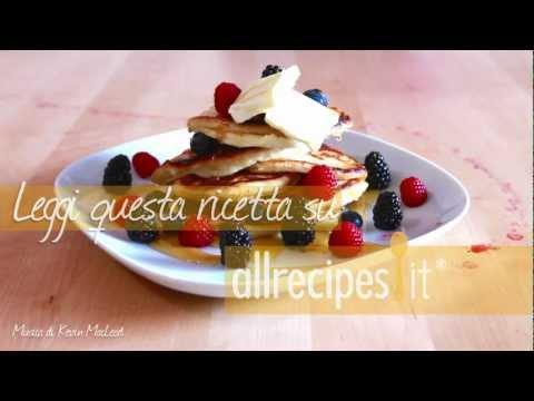 pancake soffici all'americana - ricetta