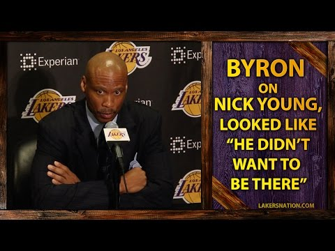 Video: Byron Scott Benches Nick Young, Looked Like