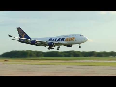 Atlas Air 747-400 landing at Springfield MO Airport SGF