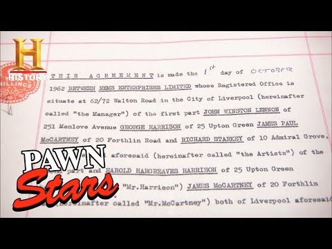 Pawn Stars: 7-FIGURE ASKING for Piece of Rock 'N Roll History (Season 9) | History