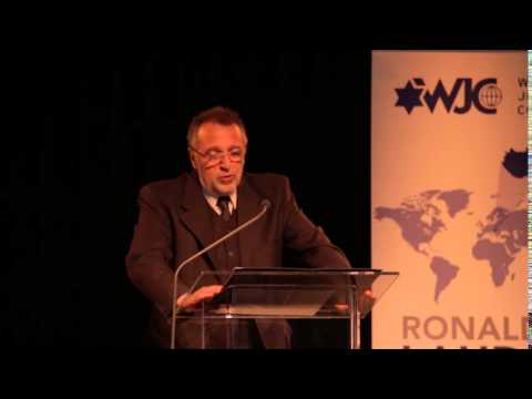 A WJC elnöke által a Mazsihisz küldöttei tiszteletére rendezett Gálavacsorán