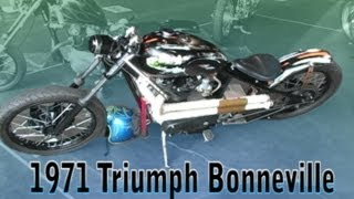 10. Clymer Manuals 1971 Triumph Bonneville Bonnie Vintage Retro Classic Rigid Chopper Motorcycle Video