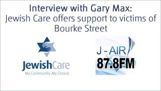 Marilyn Kraner, Jewish Care's Individual and Family Support Manager speaks with Gary Max after the terrible incident in Melbourne's Bourke St Mall on Friday 20 January.Marilyn and Max discusses the various services Jewish Care offers to the public with regards to counselling, trauma debriefing and how to manage with grief and loss.