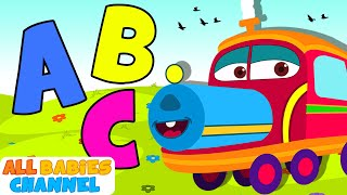 ABC Songs For Children | ABC Train Song | Nursery Rhymes | All Babies Channel