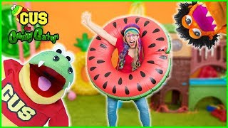Video Toy Hunt Indoor Playground with Rainbow and Moe Vs Gus MP3, 3GP, MP4, WEBM, AVI, FLV Juli 2018