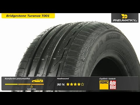 Youtube Bridgestone Turanza T001 225/50 R17 98 W XL FR Letní