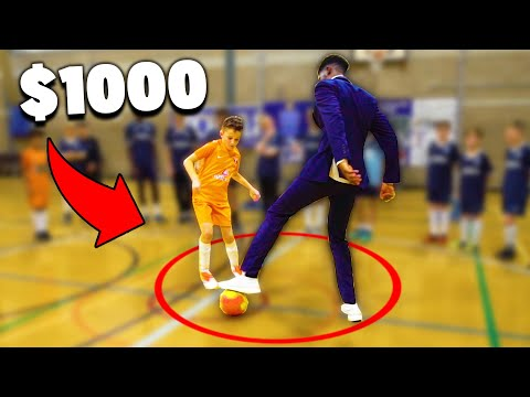 If I Get NUTMEGGED By a Kid I Lose $1000 In This Soccer Challenge