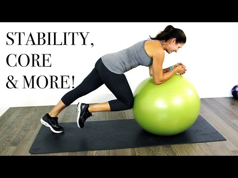 Core & More Stability Ball Workout - Intermediate Level