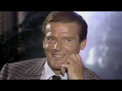 """Roger Moore on James Bond role """"A View to a Kill"""" 1985"""