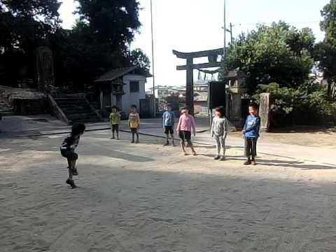 まねっこ遊び 加津佐町若木保育園の運動遊び
