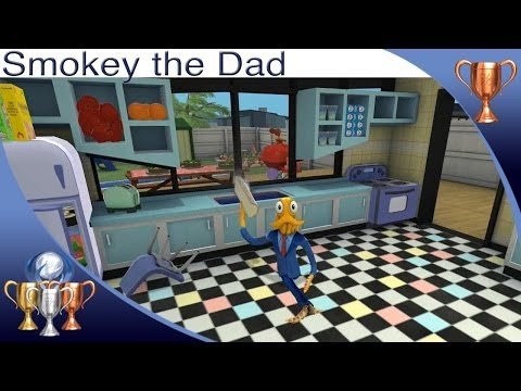 Guide - Octodad Dadliest Catch Smokey the Dad trophy guide. Only you can prevent kitchen fires. For a full trophy guide visit my site - http://www.ps4trophiesgaming....