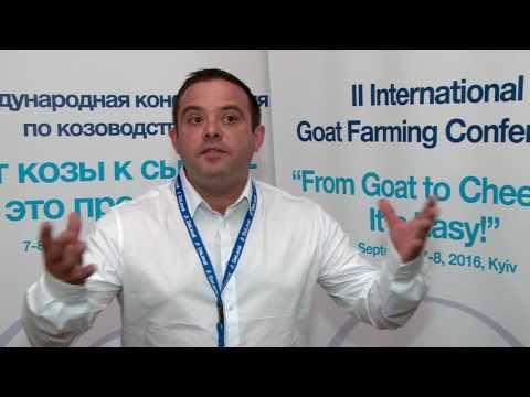 Балан Сириль на II Международной конференции по козоводству в Киеве