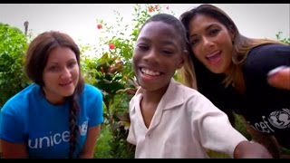 Unicef supporter Nicole Scherzinger and Flying Scot Michaela Munro travelled Guyana to find out about the work Unicef is doing ...