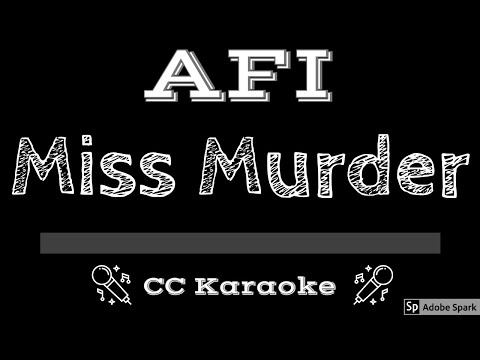 AFI   Miss Murder CC Karaoke Instrumental Lyrics