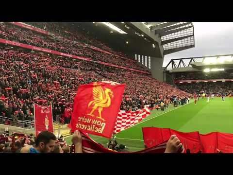 LIVERPOOL 5 V 0 HUDDERSFIELD | YOU'LL NEVER WALK ALONE LIVE FROM THE KOP | AMAZING FTS GOOSEBUMPS!!