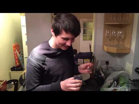 Dan tries caviar!