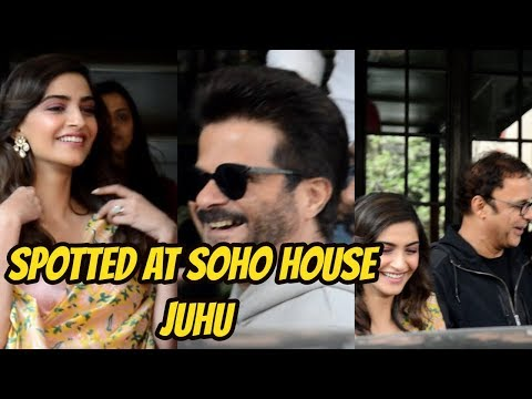 Sonam Kapoor With Dad Anil Kapoor Spotted At Soho House Juhu